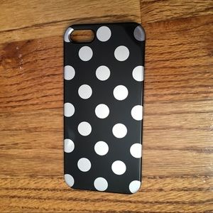 Accessories - Black and Silver Polka Pot iPhone SE 5 5s Case